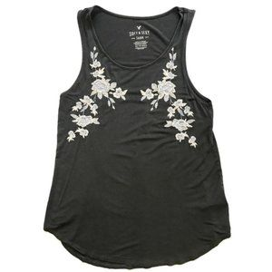 American Eagle | Embroidered Floral Soft Tank